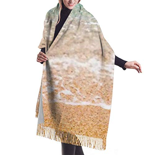 Bufanda de invierno unisex, espuma de espuma del mar, Mediterráneo, Grecia, bufandas largas y cálidas, abrigo, chal, estola