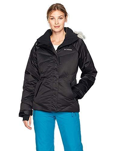 Columbia Femme Veste de Ski Isolée, LAY D DOWN, Finition polyester, Noir (Black), Taille : XL