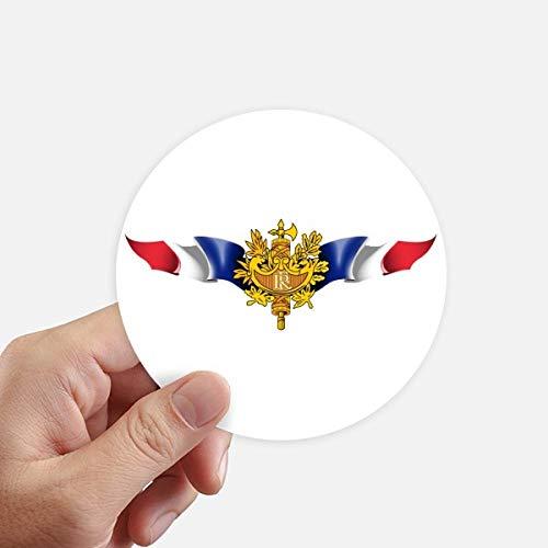 DIYthinker France Flag National Emblem Round Stickers 10Cm Wall Suitcase Laptop Motobike Decal 8Pcs