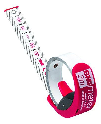 BMI 429251021 Taschenbandmaß Meter 2m in rot/SB-Verpackung, weiß