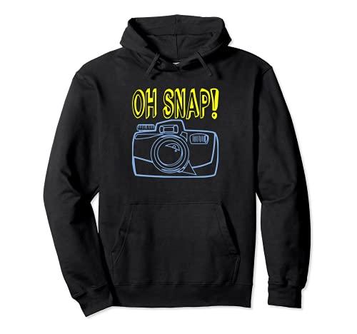 OH SNAP Fotocamera divertente citazione fotografo fotografia Hobby Felpa con Cappuccio