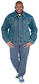 Mens Duke London Big Tall King Size Denim Jackets Western Stonewash Coat
