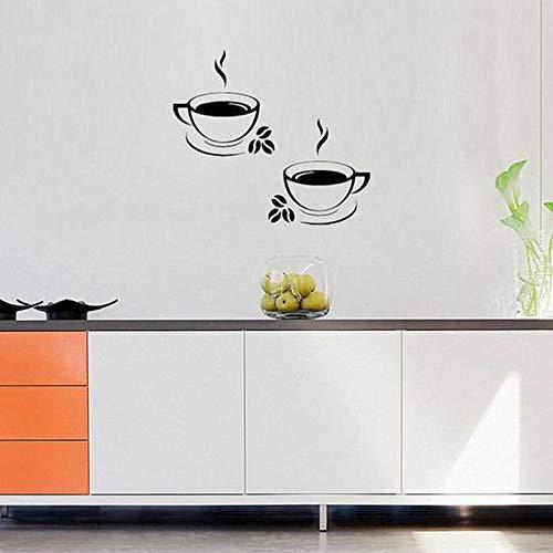 Mooie koffiemokken, thee, café, kunst trekker, PVC, wandstickers, keuken, restaurant, pub, decoratie