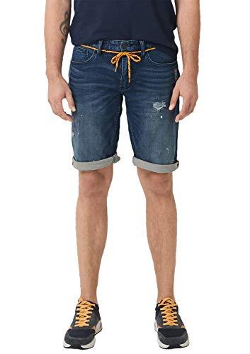 s.Oliver Herren 13.907.72.3091 Shorts, Blau (Blue Denim Stretch 56z4), W(Herstellergröße: 36)