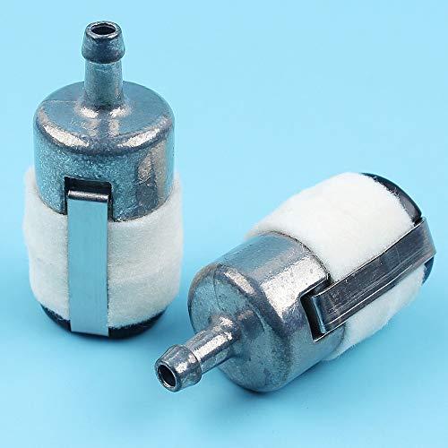 Haoyueda 2pcs / lote Filtro de combustible Compatible con Husqvarna 357 359 361 362 365 372 XP 455 460 570 Motosierra # 610-717 Piezas de repuesto Nuevo