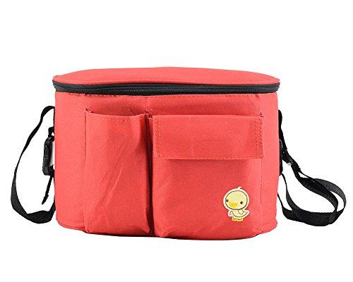 Gladiolus Baby Wickeltasche Windeltasche Babytasche Multifunktion Für Kinderwagen Buggy Rot