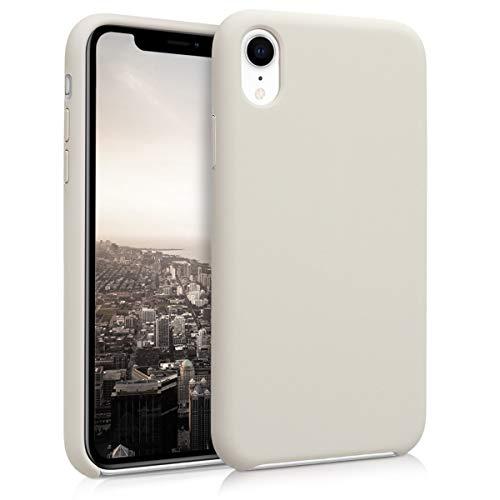 kwmobile Hülle kompatibel mit Apple iPhone XR - Handyhülle gummiert - Handy Hülle in Beige matt