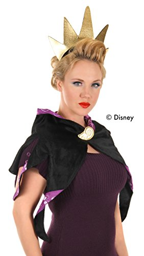 elope Disney Ursula Costume Headband and Collar for Women Black/Purple