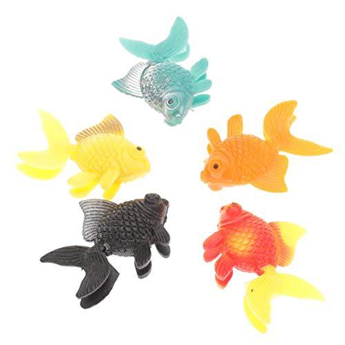 BESPORTBLE 10 stücke Gefälschte Fische Lebensechte Künstliche Schwimmende Fische Ornament Dekorationen für Aquarium Zufällige Farbe