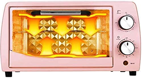 12L Mini horno Temperatura ajustable 0-250 ℃ y 60 minutos Temporizador Posición de horneado de doble capa Hogar Hornear multifunción Multifunción