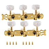 Randon Classical Guitar String Tuning Peg Tuner Machine Heads Tuning Key Pegs 3+3 Tuners for Nylon Strings (GOLD)