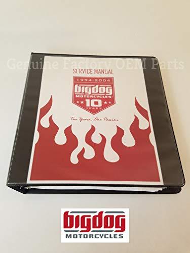 1999-2004 Big Dog Motorcycles OEM Factory Repair Shop Service Manual - ALL MODELS