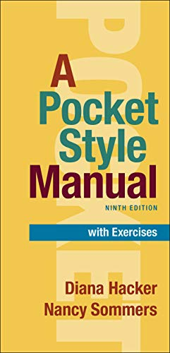 Compare Textbook Prices for A Pocket Style Manual With Exercises 9 Edition ISBN 9781319341961 by Hacker, Diana,Sommers, Nancy