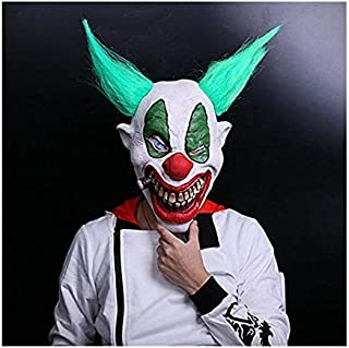 Halloween Latex Clown Mask with Hair for Adults,Halloween Costume Party Props Masks