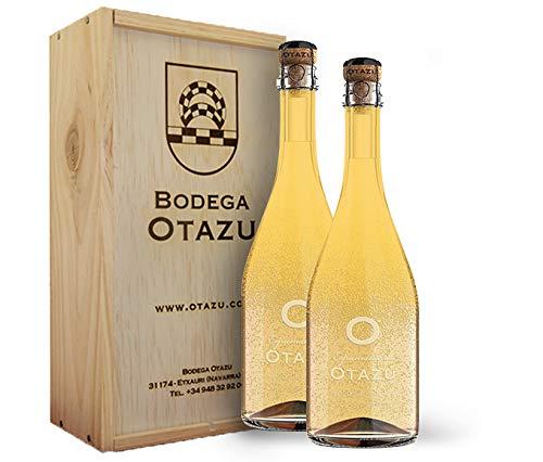 Espuma de Otazu. Vino blanco espumoso. Método tradicional. Pack de 2 botellas en caja de madera