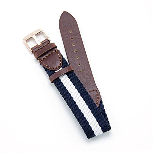 CIVO CIVO Armband Uhrarmband Militär Swiss Army Style Schweizer Armee-Art-Leder und Nylon Uhren-Armband Ersatzarmband Bügel Ersatz 18mm 20mm mit Top-Frühlings-Stab und Federstege Bonus