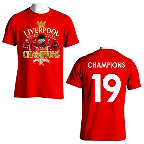PARTISAN Liverpool Champions of England 2019/2020 T-Shirt Enfant (123, 12-14 (XL))