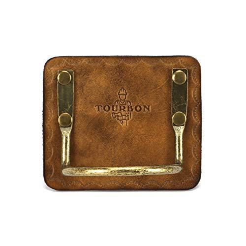 Tourbon Leather Belt Tool Holster Steel Loop Hammer Carrying Holder