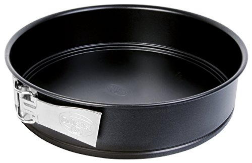 Dr. Oetker Springform Ø 28 cm, Backform mit Flachboden, runde Kuchenform aus Stahl mit Antihaftbeschichtung (Farbe: schwarz), Menge: 1 Stück