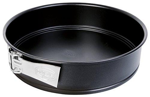 Dr.Oetker 1436 Moule à manqué à charnière, moule à manqué noir, moule à gâteau rond, moule à pâtisserie, Acier inoxydable, Noir, 28 cm