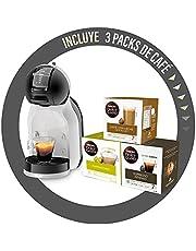 Nescafé Dolce Gusto Mini Me De'Longhi Espressomachine met 3 koffieverpakkingen, EDG155.BG, 0,8 l, zwart, grijs