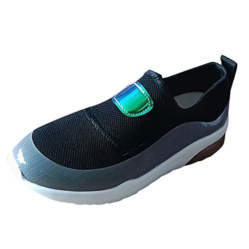 Corlidea Zapatillas de deporte para mujer, para correr, tenis, tiempo libre, ligeras, transpirables, color Negro, talla 40 EU