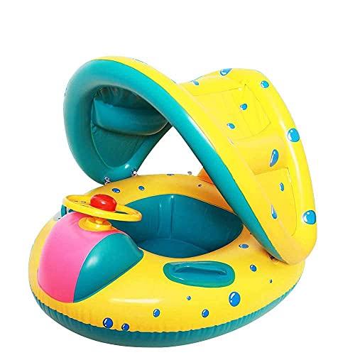 SDCNDAND Baby Pool Float with Tarife Inflable Natación Flotadores para Niños, Barco Flotador De Bebé, Flotador De Nadar Bebé, Piscina De Playa Juguetes De Agua, Traje para Niños Niños
