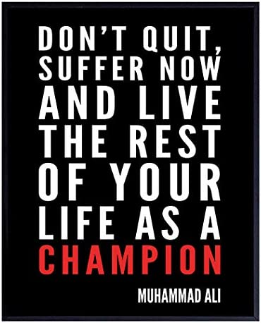Muhammad Ali Motivational Quote Wall Art Home Decor Gift for Entrepreneur Coach Trainer Boxing product image