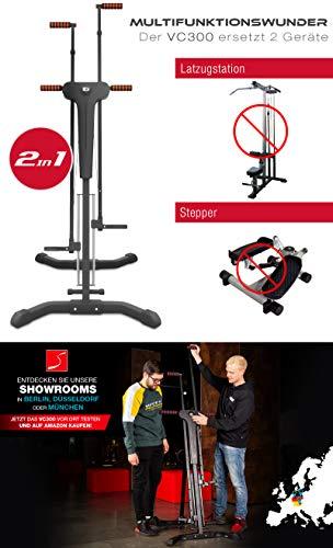 Sportstech innovativer 2in1 Stepper & Vertical Climber Fitness VC300 mit Anti-Rutsch Design & Faltsystem - 2