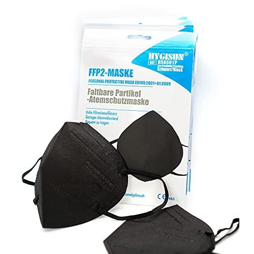 DECADE FFP2 Maske Schwarz [2x20x] Kn95 Maske, Atemschutz-Maske FFP2 Masken, EINZELVERPACKT, Masken Mundschutz FFP2, Mund Nasen Schutzmaske…