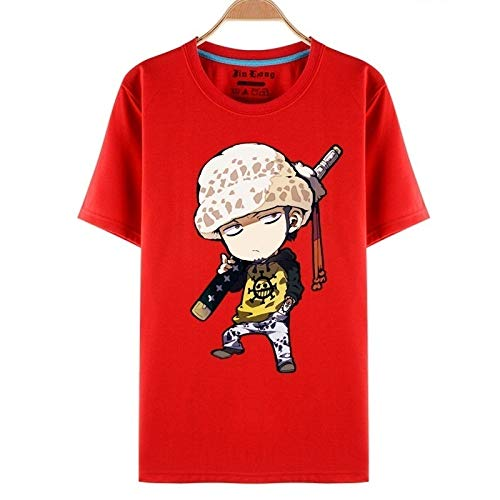 Summeer Tshirt One Piece t-Shirt Monkey·D·Luffy Tony Tony Chopper Trafalgar D Water Law Straw Hat Pirates Cosplay Cartoon S-XXXL 4 Color F038