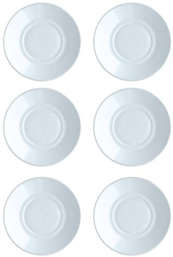 ARC INTERNATIONAL 6 Untertassen Cylindrique 16cm Opalglas