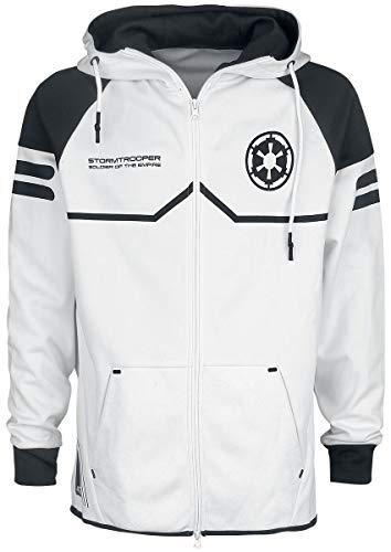 Star Wars Storm Trooper Kapuzenjacke weiß M