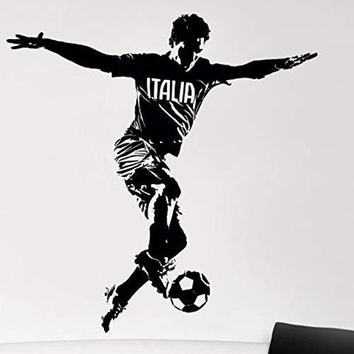 Equipo nacional de Italia Fútbol Deporte Italia Jugador de fútbol Etiqueta de la pared Vinilo Calcomanía del coche Ventiladores para niños Dormitorio Sala de estar Club Oficina Decoración para el