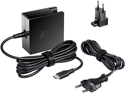 KFD 90W USB C PD Charger Cargador Tipo C Adaptador para MacBook Pro Air 2018, Lenovo Yoga ThinkPad 910 920 370 720-13 HP DELL Acer Samsung ASUS y Cualquier computadora portátil o teléfono Inteligente