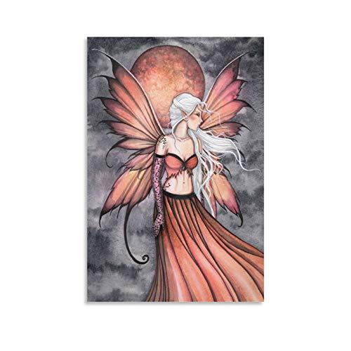 xizhuang Póster de la serie de elfos de fuego, lienzo mágico con bola de fuego, póster y arte de pared, diseño moderno de la familia de 45 x 30 cm