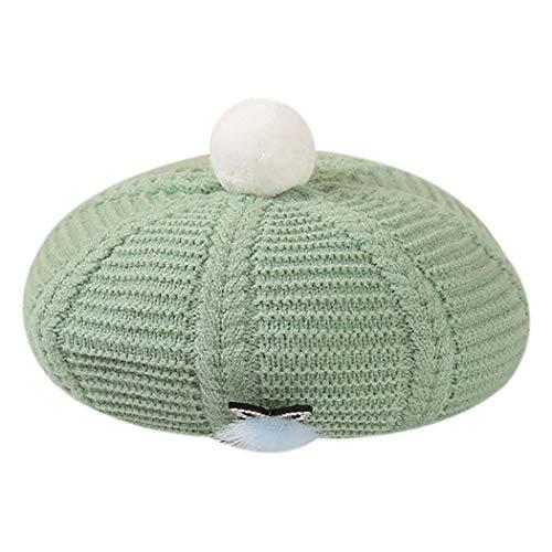 Fascigirl Chapeau Béret Femme Gardez Au Chaud Tricoté Laine Coupe-vent Mode Bonnet Bonnet Hiver Chapeau Artiste Bonnet Tricoté Boule De Laine