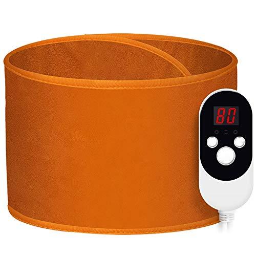 Heizgürtel Elektrisch Brown Heizung Gürtel Beheizte Massage Zurück Wrap Unterstützung Einstellbare Brace Porta Mit Auto-Off Passend für Männer und Frauen ( Color : Brown , Size : Free size )