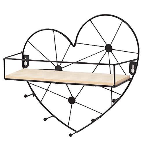 Estantes flotantes fáciles de instalar montados en la pared, estilo industrial escandinavo, estantes de almacenamiento de alambre de metal decorativo, capacidad de carga de 15 kg, para dormitorio