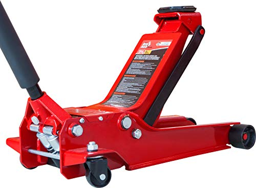 BIG RED T83508 Torin Hydraulic Low Profile Service/Floor Jack with Dual Piston Quick Lift Pump, 3.5 Ton (7,000 lb) Capacity, Red