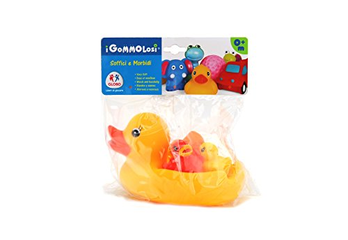 Globo Toys 35827 Vitamina _ G Gommolosi Canard avec 3-Babies