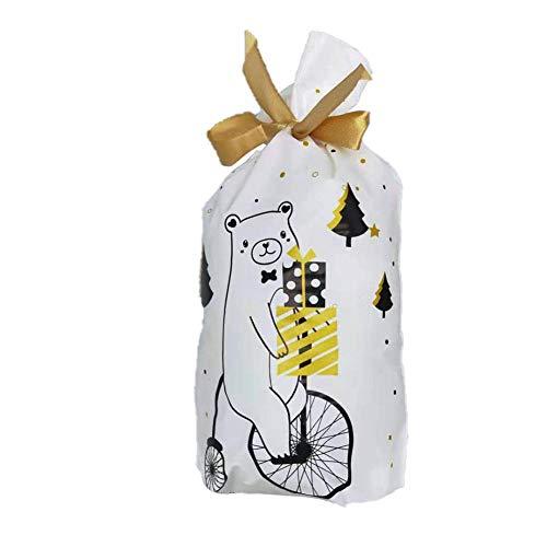 Oinna Sacs en organza pour fête, cadeaux, sacs en organza, sacs de faveur de mariage, petits sacs à bonbons, nourriture de Noël, sacs d emballage de vélo