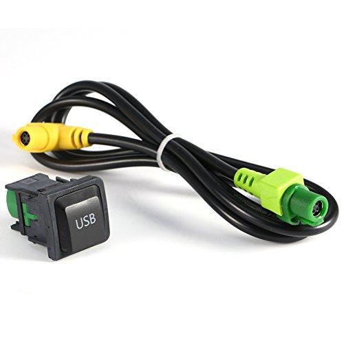 100 cm USB tasto interruttore cavo adattatore cablaggio interruttore USB e AUX cavo kit