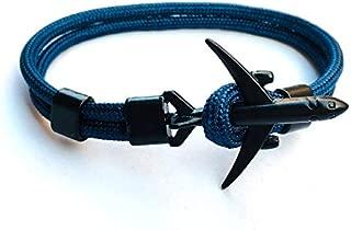 X-CRAFT Survival Bracelets 2019 Black Airplane Aircraft Anchor Bracelet Men Women Charm Nautical Survival Rope Chain Paracord Bracelet Male Wrap