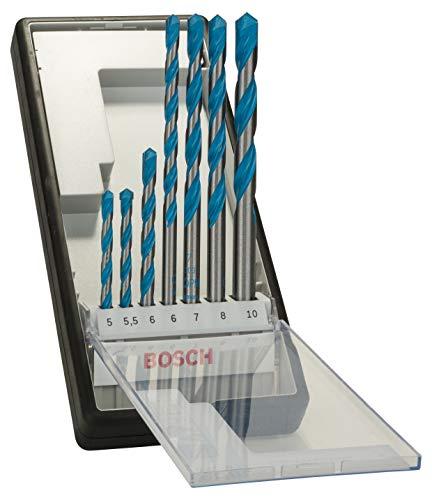 Bosch Professional 2607010546 Multi-Purpose Drill bit Robust Line CYL-9' 5-10mm 7 pcs, Silver, 45cm x 40cm x 25cm