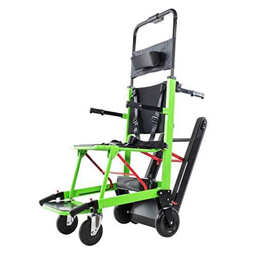 GLYIG La Silla de Ruedas Eléctrica Plegable Puede Subir Escaleras. para Discapacitados y Ancianos Totalmente Automático Sube y Baja La Silla de Ruedas Escaleras,Green