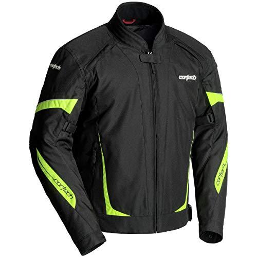 Cortech VRX 2.0 Men's Textile Street Motorcycle Jacket - Black/Hi-Viz X-Large