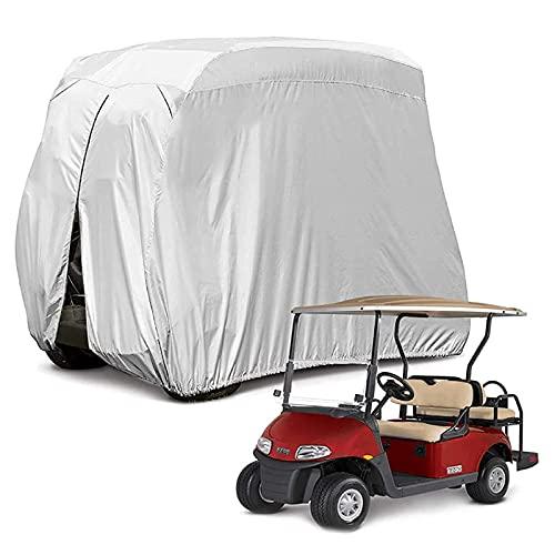 Mr.LQ Copertura per Carrello da Golf, Tetto per Carrello da Golf Impermeabile a Prova di Sole 400D per 4 Passeggeri, Resistente alla Polvere E Durevole