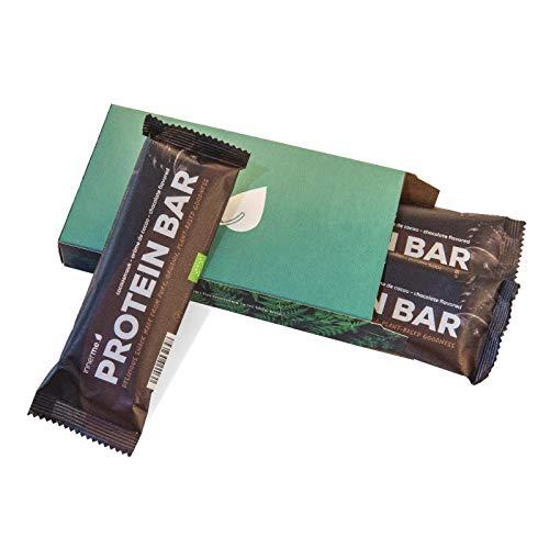 INNERME - Juego de 3 barritas de proteínas - Receta perfumada de chocolate - Proteína para culturismo - Receta 100% vegana - 3 porciones de 50 g - (contiene sal del Himalaya)