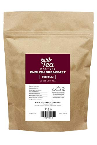 The Tea Masters Loose Leaf Tea Premium English Breakfast 1kg